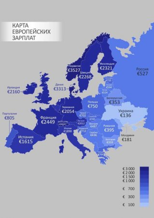 Обновленный рейтинг минимальных заработных плат Европы