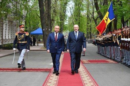 Александра Лукашенко и Игорь Додон совместно сажали кукурузу